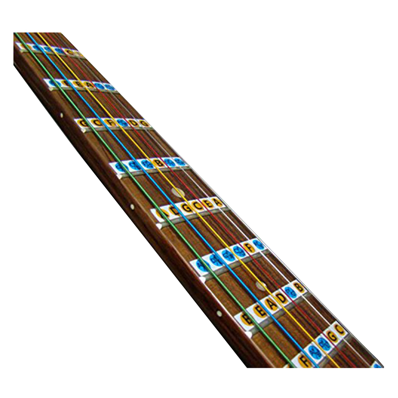 Fine 1pc New Fretboard Notes Map Labels Sticker Fingerboard Fret Decals For 6 String Guitar 9*1cm Wholesale Guitar Parts & Accessories