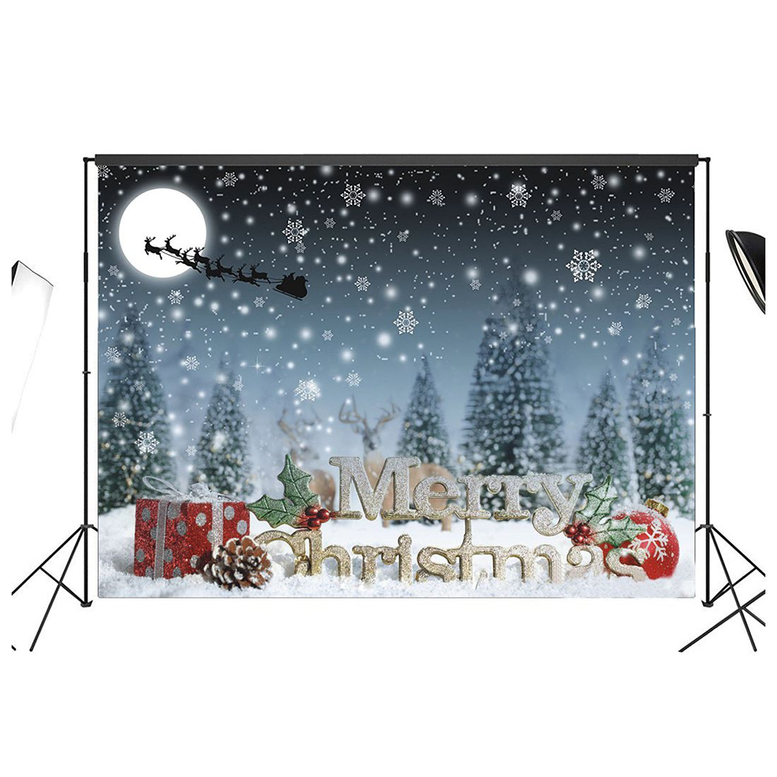 7x 5ft Christmas Photography Backdrop Photo Background Studio Prop 300cm 200cm about 10ft 6 5ft fundo butterflies fluttering woods3d baby photography backdrop background lk 2024