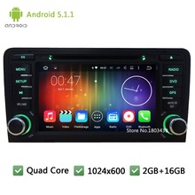 Quad core Android 5.1.1 7″ 2Din 1024*600 Car DVD Player Radio Audio Stereo Screen GPS PC For Audi A3 S3 RS3 2003-2013 WIFI FM