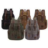 New Fashion Large Capacity Men S Backpack Vintage Canvas Backpack Men S Travel Bags Large Capacity