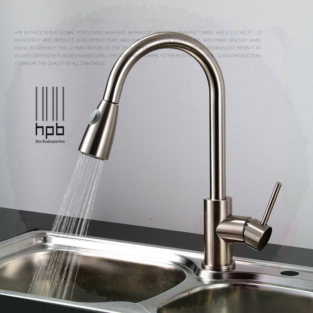 kitchen sink water taps brass sink mixer and cold water tap pull type 6031