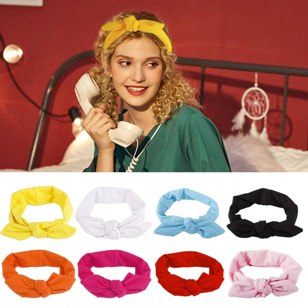 Women Headbands 8 Pack Turban  Hair Band Bows Accessories For Fashion And Sports