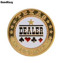Guard-Protector Token-Coin Poker-Card Dealer Plastic-Cover Texas Metal with Hot-Sale