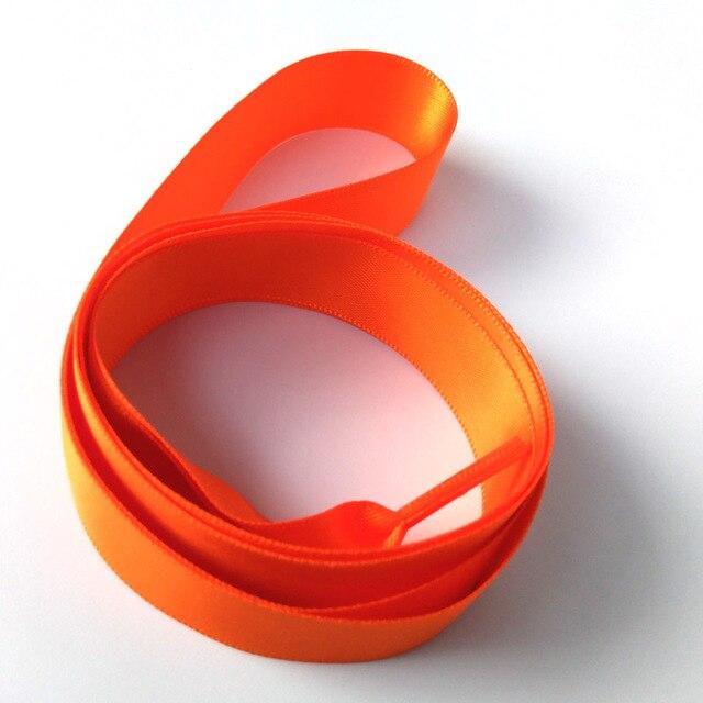 N 1-12Pairs Orange Großhandel Mode Bunte Seide Band Frauen Mädchen Flache Schnürsenkel Sneaker Sport Schuh Fantastische Schnürsenkel schnürsenkel