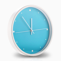 Modern Minimalist Blue Ocean Metal Wall Clock No Digital Fashion Creative Living Room Muted Wall Clock 12 460668
