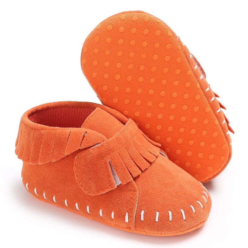 Newborn Baby Girl Moccasins Soft Moccs Shoes Boy Kids Leather Fringe Infant Shoes Toddler Casual Shoes Bebe First Walkers
