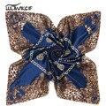 Дамы шарфы квадратной 90*90 высокое качество, модные печати саржевого атласа шарф женщин Бандана марка Хиджаб платки femme шаль шея pz30