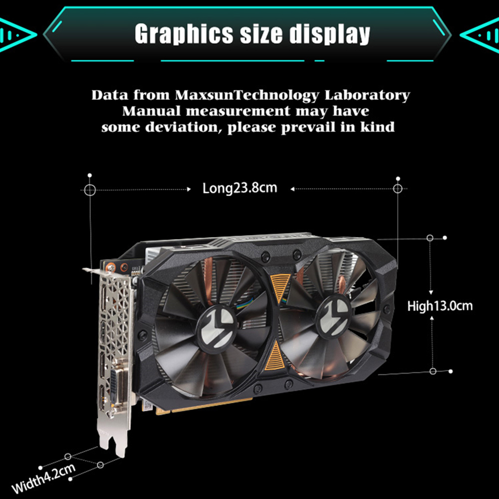 Image 5 - MAXSUN graphic card PC rx 580 2048SP Big Mac 8G amd GDDR5 256bit 7000MHz 1168MHz PCI Express X16 3.0 14nm rx580 video card-in Graphics Cards from Computer & Office