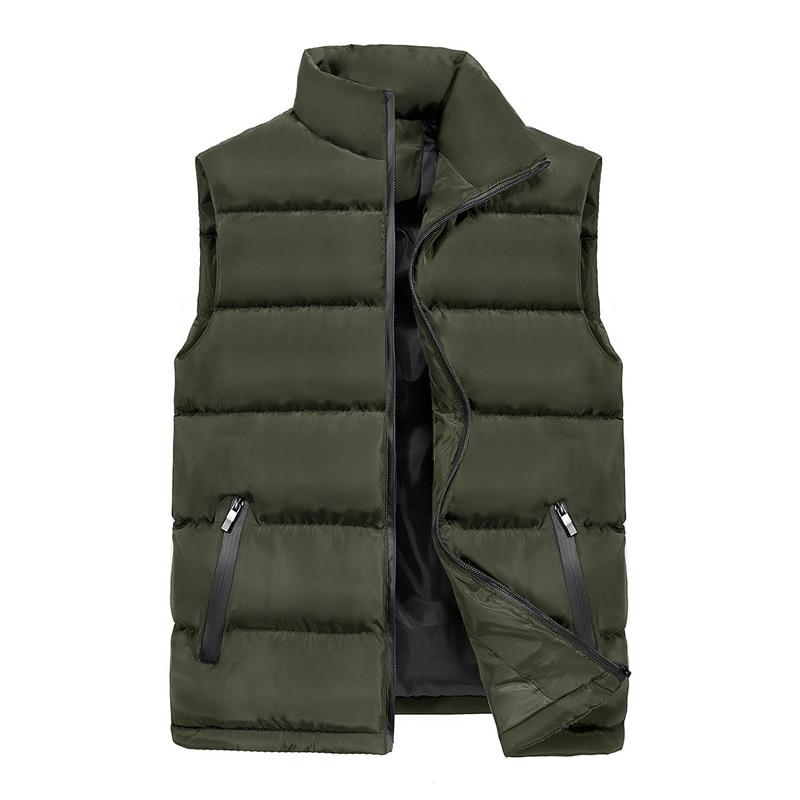 New Arrivals Casual Vest Waistcoat 2018 Autumn Winter Mens Jacket Sleeveless Vest Male Down Cotton Thick Warm Vests 5XL