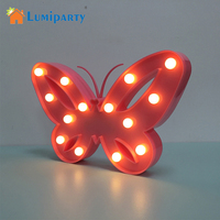 Lumiparty Beautiful Design 3D Butterfly LED Night Light Decorative Table Lamp For Bedroom Festival Party Lamp