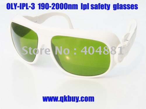 IPL safety goggles (190-2000nm. O.D 4+ CE ), white frame, black hard box