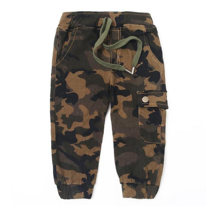 Neue Baumwolle Kinder Cargohosen Jungen Camouflage Hosen Kinder Kind - Kinderkleidung - Foto 4