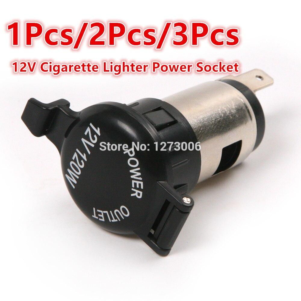 Universal 1/2/3Pcs 12V Cigarette Lighter Power Socket Outlet Plug Waterproof For Car Motorcycle GPS Accessories 65*25mm Hot Sale