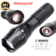 Tatical Military Linterna Led Flashlights 5 Modes XML T6 Fla