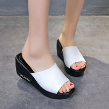 Женские шлепанцы; Модные летние туфли из искусственной кожи