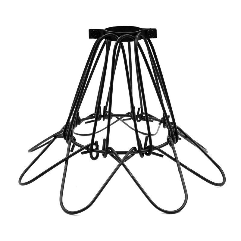 Black Mini Metal Iron Hanging Lampshade Industrial Warehouse Style Antique Loft Covers Guard Wire Cage Pendant Light Fixture