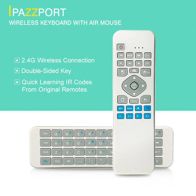 Brand 2.4G Wireless Keyboards QWERTY Air Mouse Android For Desktop Laptop Andriod TV Box Multimedia Mini Slim 10m Remote