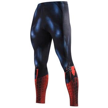 ZRCE Yeni Yüksek Kaliteli Erkek dar pantolon 3D Desen Superman Demir Adam Flaş Vücut Geliştirme Jogger Spor Sıska Tozluk Pantolon