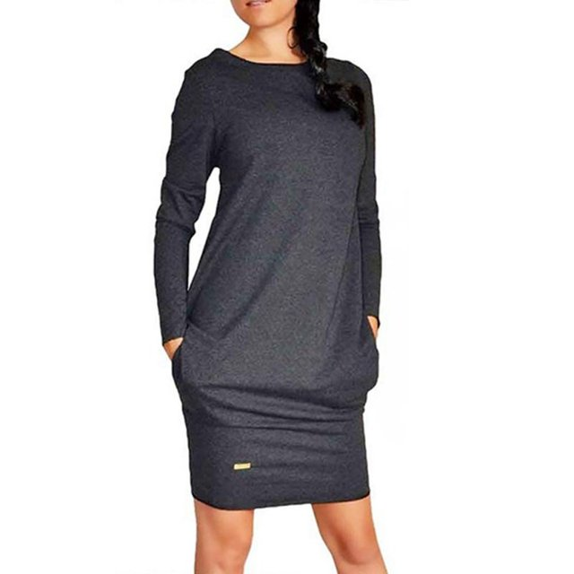 Sexy Women Long Sleeve Warm Bodycon Dress Sweatshirt Party Short Mini Jumper Dresses Hot 2017