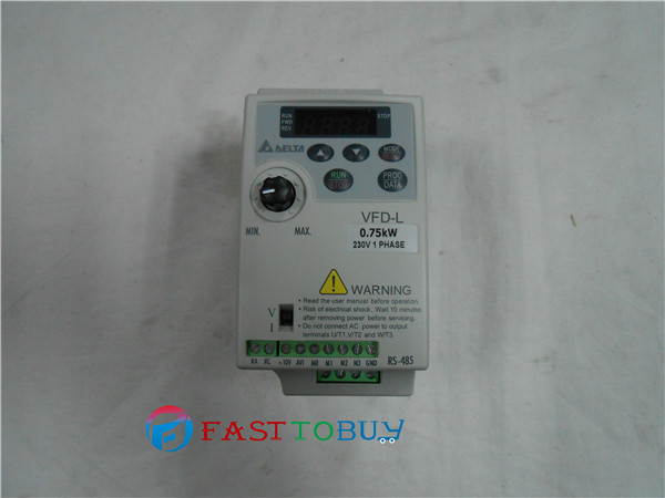 Delta Inverter VFD Variable Frequency Drive VFD007L21A 1Phase 220V 0.75kW 1HP 1~400Hz Wood cutting &Wire drawing