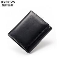 Unisex Genuine Cow Leather Wallet Men Fashion Coin Purse Luxury Brand Design Women Purse Quality Card