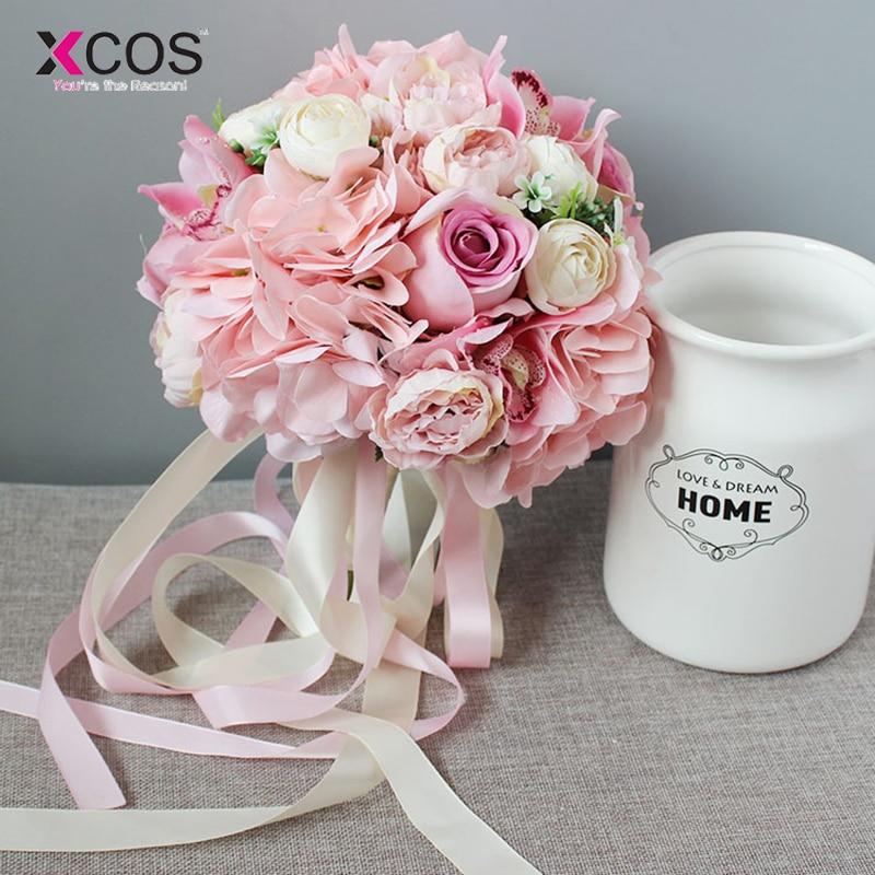 Xcos Rose Especes D Orchidee Rose Mariage Fleurs Mariee Bouquet 2018 Nouveau Artificiel Demoiselle D Honneur Bouquets Mariee Ramos De Novia