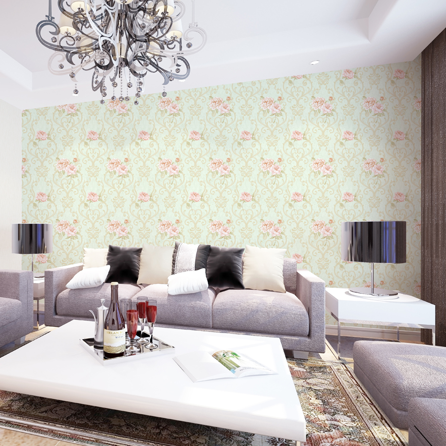 Modern beige 3d embossed plant shed living room italian for Pink living room wallpaper