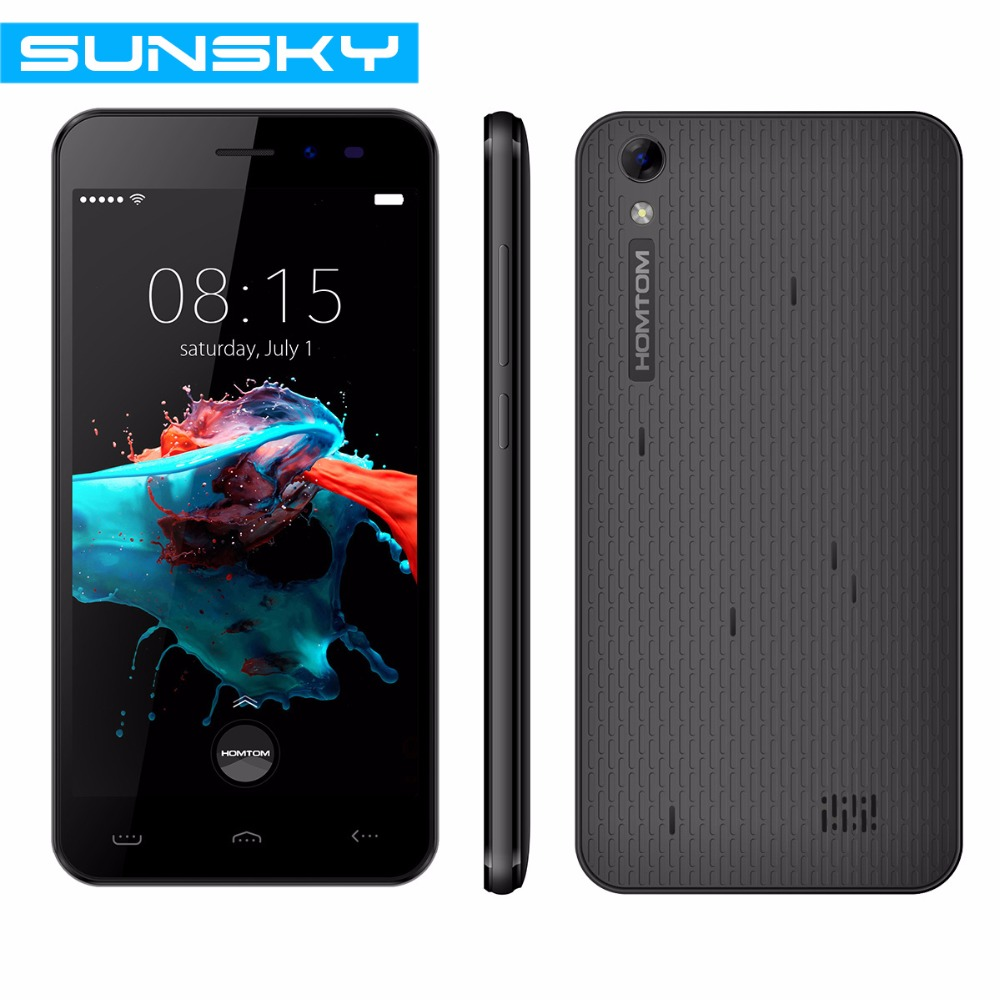Original Homtom HT16 5.0 inch Android 6.0 MTK6580 Quad Core 3G 1GB RAM 8GB ROM 3G Smartphone 8MP Camera 3000mAh GPS Mobile Phone