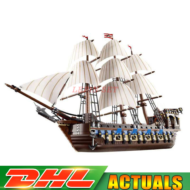LEPIN 22001 Pirate Ship Warships Model Building Kits Block Briks Gift 1717pcs Compatible LegoINGLY 10210 Educational Toys 1717pcs diy pirate ship warships building block educational model compatible with legoingly 10210 bricks toys for children