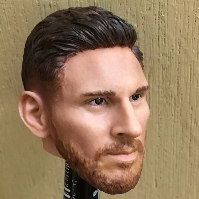 Custom 1/6 Scale Lionel Messi Head Sculpt Barcelona Soccer for 12 HotToys PHICEN Male FigureCustom 1/6 Scale Lionel Messi Head Sculpt Barcelona Soccer for 12 HotToys PHICEN Male Figure