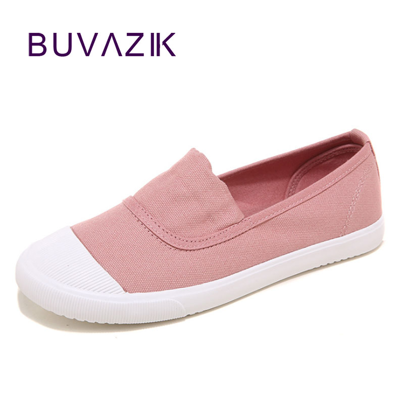 Women fashion canvas flats for new 2017,slip on shallow casual loafers for spring and summer rubber soles canvas shoes size 40 2017 summer new fashion sexy lace ladies flats shoes womens pointed toe shallow flats shoes black slip on casual loafers t033109