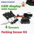 Kit De Sensor De Estacionamento 4 Sensores de carro LEVOU 22mm Display Backlight Reversa Radar Backup System Monitor 12 V 8 Cores