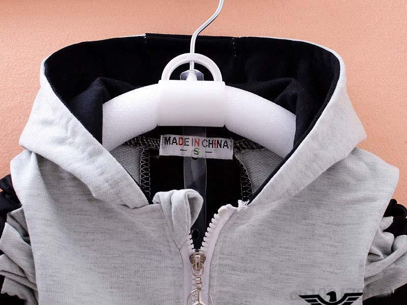 HTB19LTjwZuYBuNkSmRyq6AA3pXaZ - 2019 spring Kids Clothes set Fashion Casual Letter Gray Zipper Hoodie+ Pants Baby Boys 2pcs Sets girl fall clothes Children Suit
