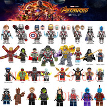 Loki Marvel Avengers Endgame Infinity War Super héros Thanos Spider Iron man Doctor Strange modèle blocs de construction jouets Figures(China)