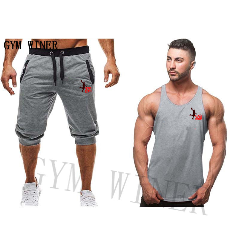 Summer New Mens Fashion Sports Shorts Jordan Sports Fitness Short Hip Hop Mens Casual Gym Large Size Shorts2019 Men's Clothing