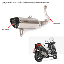 XMAX250 XMAX300 Motorcycle Full Connecting Pipe With Tail Exhaust Muffler Pipe System for Yamaha XMAX250 XMAX300 2017 2018 2019 все цены