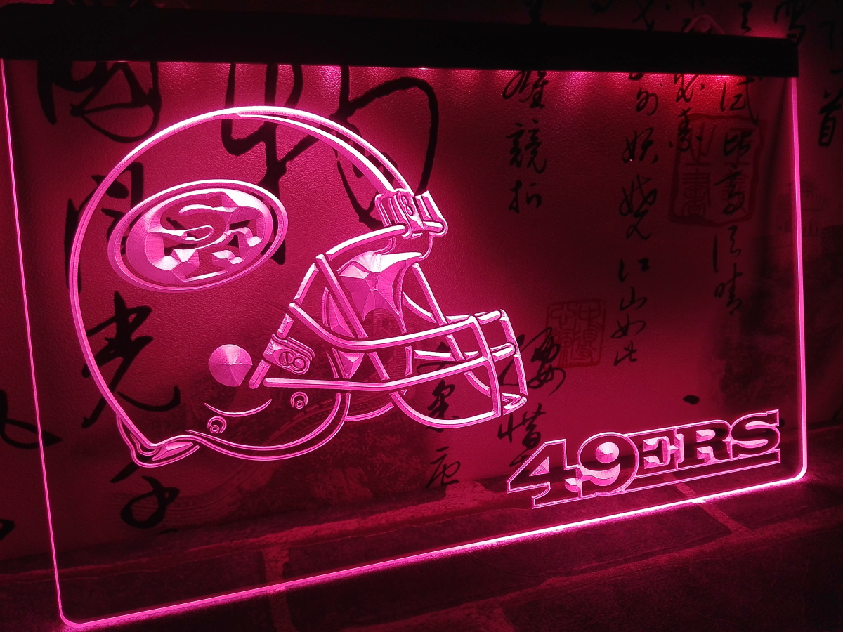 Ld335 San Francisco 49ers Helmet Nr Led Neon Light Sign Home Decor Crafts In Plaques Signs