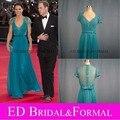 Kate Middleton Vestido de Renda Teal Evening Prom Pageant Vestido De Londres Gala Olímpico