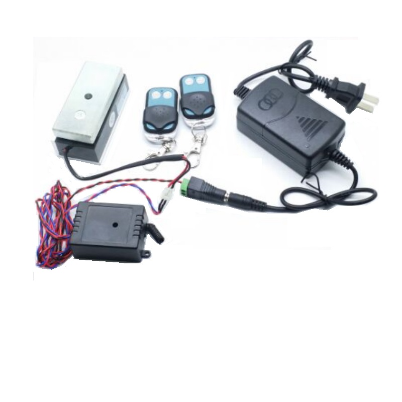 100lbs 12V/24V mini door magnetic lock+315MHz remote controller for magnetic lock cabinet lock drawer for access control system