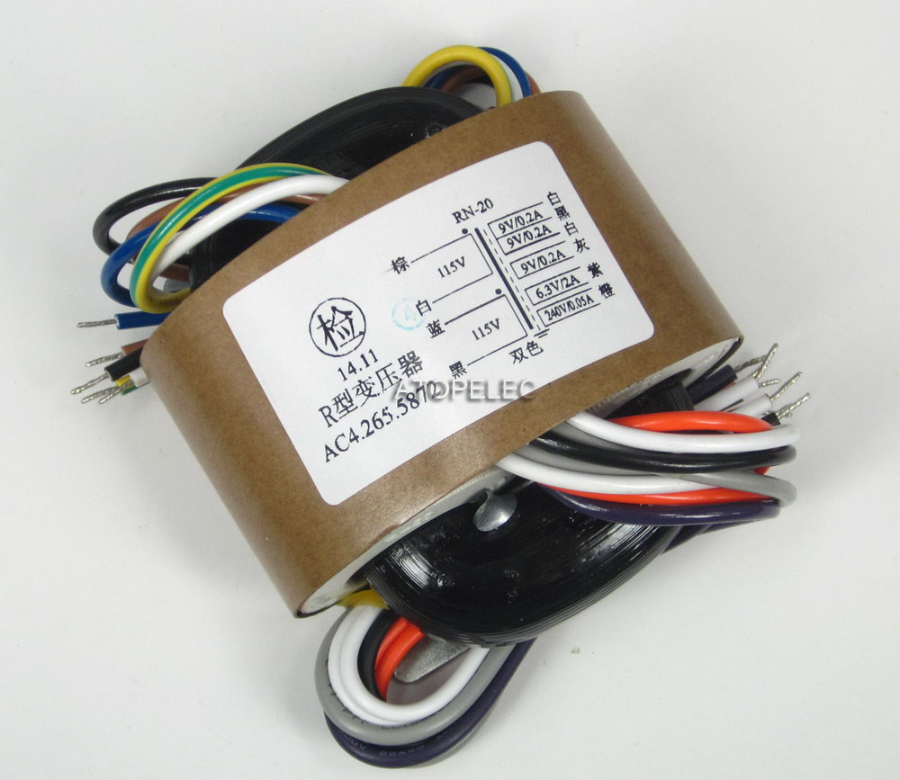 30W R-CORE Transformer for tube amplifier AC115V //230V 9V×3+6.3V+240V