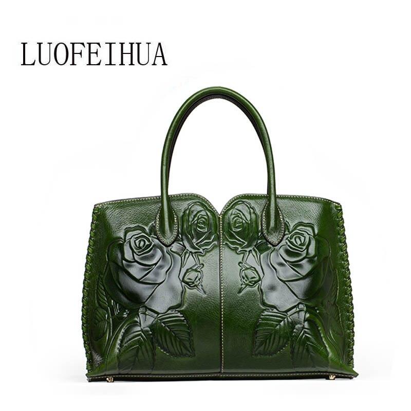 Genuine Leather women bags for women 2019 new luxury embossed handbag brand bag Designer handbag