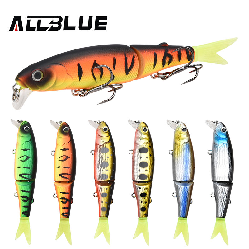 ALLBLUE Good Quality Professional Suspend Minnow Fishing Lure 90mm 7.7g Swim Jointed Bait Armed With Black Treble Hook Soft Tail original pci 6032e selling with good quality and professional