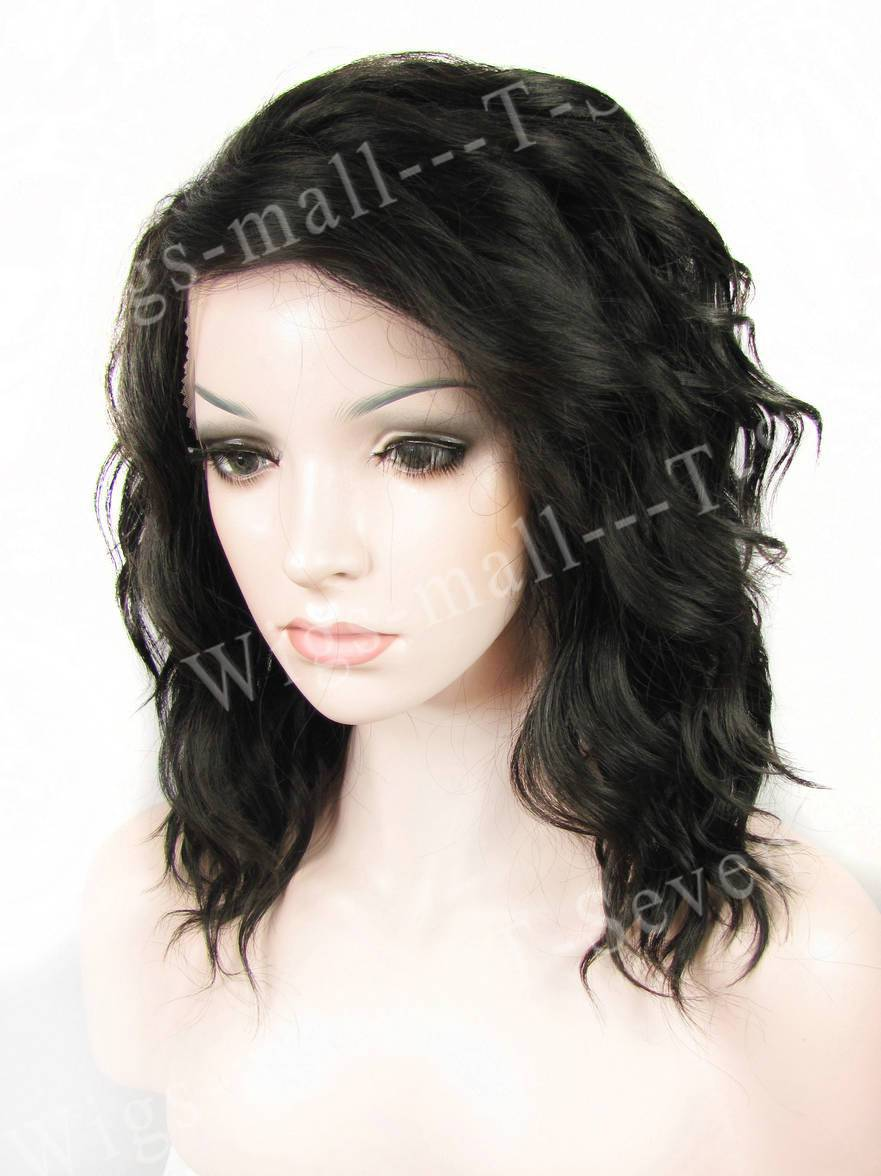 2015 now Natural Black Short Wavy Synthetic