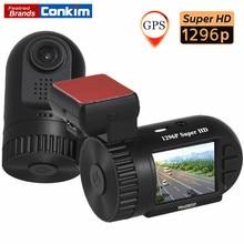 """Conkim Mini 0805 P Caméra Tableau De Bord Automobile GPS Enregistreur 1296 P 1080 P Full HD DVR Condensateur Caché Voiture Cam Registrator 1.5 """"voiture Boîte Noire"""
