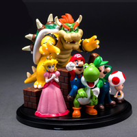 10cm Super Mario Bros PVC Action Figure Toys Super Mario Yoshi Dinosaur Figures Model Gift Toy Toy For Children