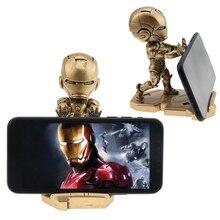 Phone Holder Super Hero Avenger Iron Man Support Mobile desk holder phone stand Design high quality Smartphone Bracket