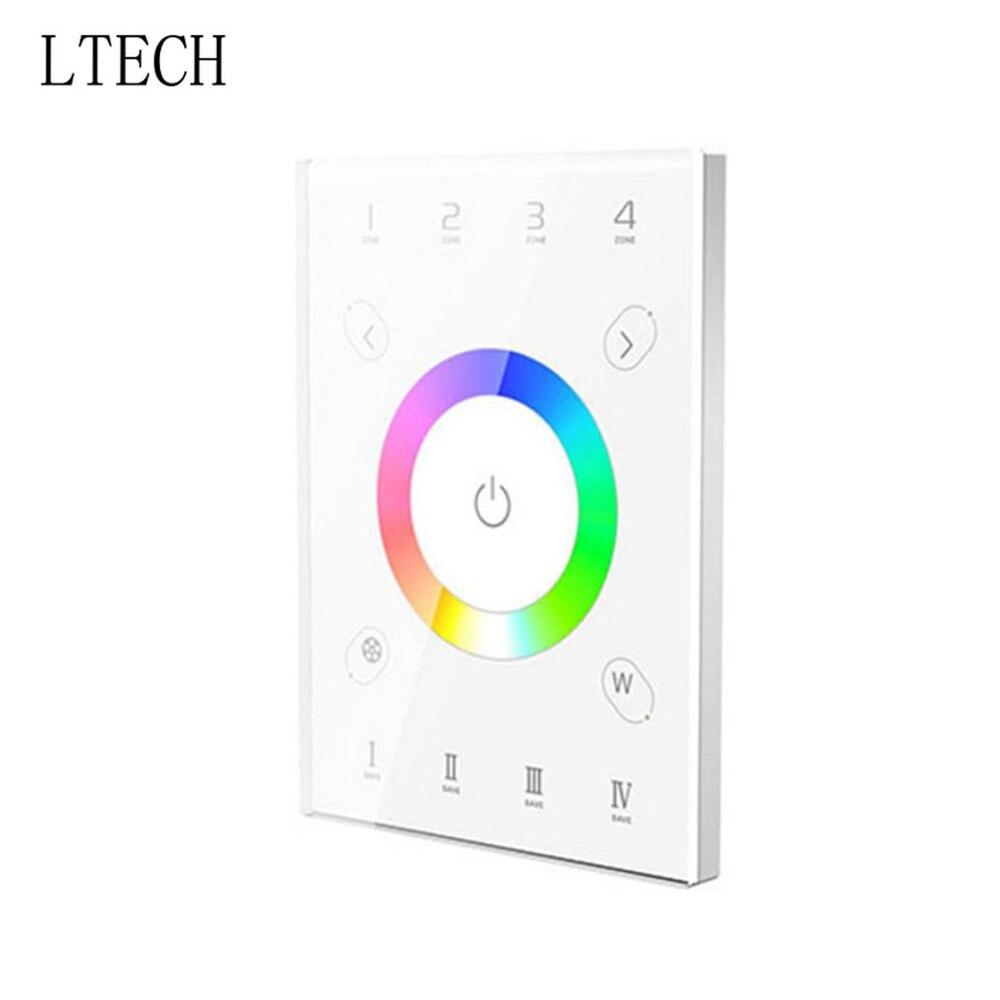 Xnbada LTECH UX8 LED RGBW mur tactile panneau en verre contrôleur DMX512 sortie RGBW bande DC5V 4 Zones contrôleur multifonction