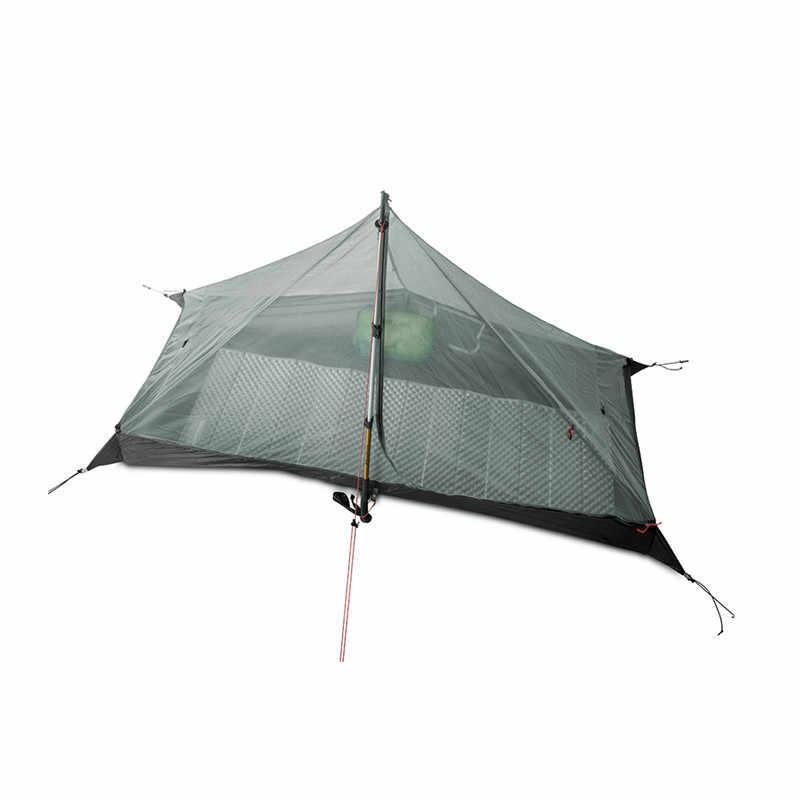 3F UL dişli Lanshan 1 çadır açık 1 kişi Ultralight kamp çadırı 3 sezon profesyonel 15D Silnylon Rodless çadır
