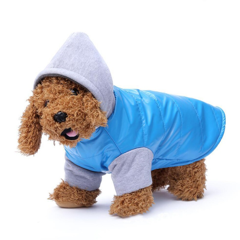 New Pet Clothes Thickened Vest Winter Dog Jacket Coat Thickening Warm Puppy Dog Clothes With Hood Apparel Size S M L XL XXL