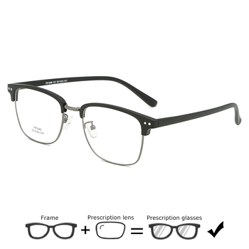 4d295c80e5 Cuadrado gafas de hombre de negocios marco medio de gafas de moda de  aleación de la miopía gafas ópticas de hipermetropía gafas hombres 621